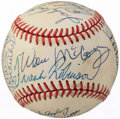 Autographs:Baseballs, Baseball Hall of Fame Multi-Signed Baseball (17 Signatures) with Williams, Mantle, Koufax, & Others....