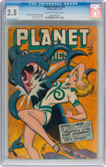 Golden Age (1938-1955):Science Fiction, Planet Comics #52 (Fiction House, 1948) CGC GD+ 2.5 Cream to off-white pages....