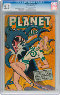 Planet Comics #52 (Fiction House, 1948) CGC GD+ 2.5 Cream to off-white pages