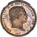 """Great Britain, Great Britain: George III silver Proof Pattern """"Three Graces"""" Crown 1817 PR64+ Cameo NGC,..."""