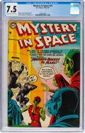 Golden Age (1938-1955):Science Fiction, Mystery in Space #23 (DC, 1955) CGC VF- 7.5 Cream to off-white pages....