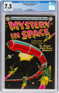 Golden Age (1938-1955):Science Fiction, Mystery in Space #19 (DC, 1954) CGC VF- 7.5 Off-white pages....