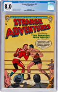 Golden Age (1938-1955):Science Fiction, Strange Adventures #43 (DC, 1954) CGC VF 8.0 Off-white pages....