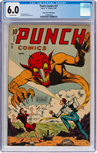 Punch Comics #21 Mile High Pedigree (Chesler, 1947) CGC FN 6.0 Off-white pages