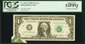 Error Notes:Foldovers, Foldover Error Fr. 1913-G $1 1985 Federal Reserve Note. PCGS AboutNew 53PPQ.. ...