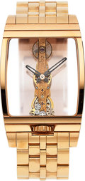 Timepieces:Wristwatch, Corum, Very Fine Golden Bridge, 18K Rose Gold Case and Bracelet, Ref. 113.550.55, Circa 2005. ...