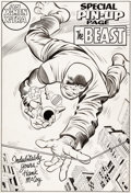 "Original Comic Art:Splash Pages, Jack Kirby and Chic Stone X-Men #8 ""The Beast"" Pin-Up Illustration Original Art (Marvel, 1964)...."