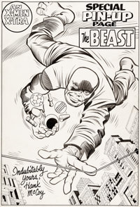 "Jack Kirby and Chic Stone X-Men #8 ""The Beast"" Pin-Up Illustration Original Art (Marvel, 1964)"