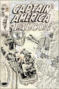 Original Comic Art:Covers, John Romita Sr. Captain America #141 Cover Original Art (Marvel, 1971)....