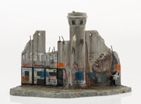 After Banksy Defeated, 2018 Painted cast resin with concrete 4-1/2 x 7 x 4-1/4 inches (11.4 x 17