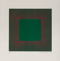 Prints & Multiples, Richard Joseph Anuszkiewicz (b. 1930). Green with Red, from the Autumn Suite, 1979. Etching with aquatint in colors ...