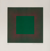 Richard Joseph Anuszkiewicz (b. 1930) Green with Red, from the Autumn Suite, 1979 Etching