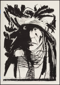 Leonard Baskin (1922-2000) Spies on his Enemies - Crow, 1972 Lithograph on paper 35 x 25 inches (
