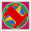 Prints & Multiples, Robert Indiana (1928-2018). One, from the American Dream Portfolio, 1997. Screenprint in colors on paper. 14 x 14 in...