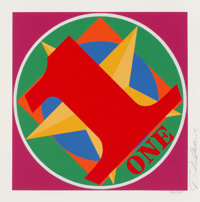 Robert Indiana (1928-2018) One, from the American Dream Portfolio, 1997 Screenprint in co
