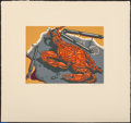 Fine Art - Work on Paper:Print, Jack Beal (1931-2013). Blue Crab, c. 1975. Silkscreen in colors on Umbrian paper. 9 x 12-1/8 inches (22.9 x 30.8 cm) (im...