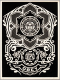 Fine Art - Work on Paper:Print, Shepard Fairey (b. 1970). Peace Ornament, 2006. Screenprint in colors on cream speckled paper. 24 x 18 inches (61 x 45.7...