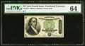 Fractional Currency:Fourth Issue, Fr. 1379 50¢ Fourth Issue Dexter PMG Choice Uncirculated 64.. ...