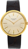 Timepieces:Wristwatch, Patek Philippe & Co. Ref. 2591 Gent's Gold Wristwatch. ...