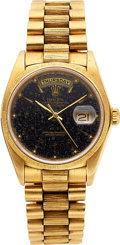 Timepieces:Wristwatch, Rolex Ref. 18000 Gold Oyster Perpetual Day-Date, circa 1980. ...