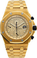 Timepieces:Wristwatch, Audemars Piguet, Royal Oak Offshore, Chronograph in 18K Yellowgold, with box. ...