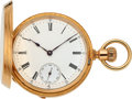 Timepieces:Pocket (pre 1900) , Patek Philippe & Co. Early Gold Keyless Lever, No. 41958 MadeFor Palmer Bachelders & Co. Boston, circa 1872. ...