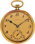 Timepieces:Pocket (post 1900), Patek Philippe For Tiffany & Co. Pocket Watch, Original Box, circa 1925. ...