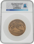 """Explorers:Space Exploration, Naval Aviation 50th Anniversary 1911-1961 """"The Golden year of the Golden Wings"""" Bronze Medal MS66 NGC, Engraved """"Neil A. Armst..."""