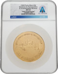 Explorers:Space Exploration, Belgian Aviation Pioneers Gilt Medal MS 66 NGC, Awarded to Neil Armstrong, Directly From The Armstrong Family Collection™, Cer...