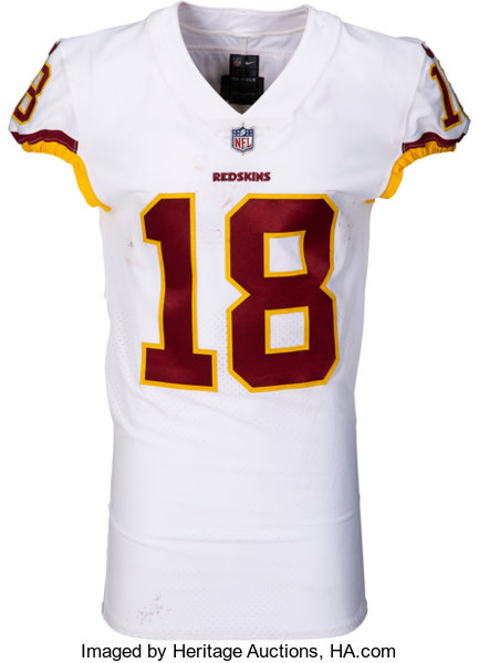 best loved 8b40a 8876e 2017 Josh Doctson Game Worn, Unwashed & Signed Washington ...