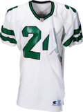 Football Collectibles:Uniforms, 1992 Freeman McNeil Game Worn, Signed & Unwashed New York Jets Jersey - Cut off after Shoulder Injury....