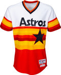 Baseball Collectibles:Uniforms, 2014 Jose Altuve Game Worn Houston Astros Turn Back the Clock Night Uniform with MLB Hologram. ...