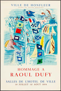 """Hommage a Raoul Dufy (1954). French Exhibition Poster (20"""" X 30""""). Miscellaneous"""