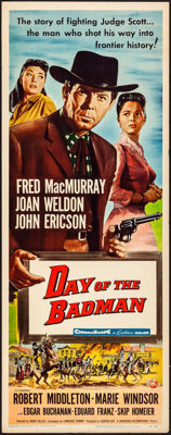 """Day of the Badman & Others Lot (Universal International, 1958). Inserts (3) (14"""" X 36""""). Western. ... (Tot..."""