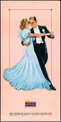 """Movie Posters:Musical, Fred Astaire and Ginger Rogers (Nostalgia Merchant, 1987). Video Poster (20"""" X 40"""") B. Stavrinos Artwork. Musical.. ..."""