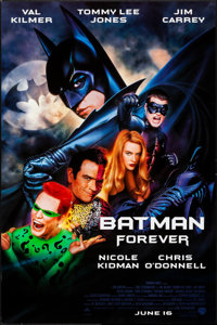 "Batman Forever (Warner Bros., 1995). Rolled, Very Fine+. One Sheets (5) (27"" X 40"") SS Advance & DS Advanc..."