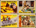 """Movie Posters:Western, Frontier Pony Express & Other Lot (Republic, 1939). Title Lobby Cards (2) & Lobby Cards (2) (11"""" X 14""""). Western.. ... (Total: 4 Items)"""