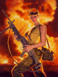 Other, Greg Hildebrandt (American, b. 1939). American Bombshell, American Beauties, 2003. Acrylic on canvas. 37 x 28 in.. Signe...