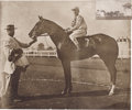 "Photography:Official Photos, ""Old Honesty"" Horse Racing Photograph Attributed to John C.Hemment, 17"" x 14"" matted to an overall 23.5"" x 20.75"", Latonia,..."