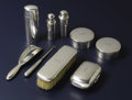 Silver Smalls:Other , An American Silver Travelling Toilet Set. Tiffany & Co., NewYork, New York. Circa 1907-1947. Silver, silver gilt, cork. M...(Total: 9 Pieces)