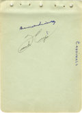 Autographs:Others, Circa 1942 Branch Rickey Signed Album Page. The Hall of Famer bestremembered for bringing Jackie Robinson to the Big Leagu...