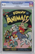 "Golden Age (1938-1955):Funny Animal, Fawcett's Funny Animals #63 Davis Crippen (""D"" Copy) pedigree(Fawcett, 1949) CGC NM- 9.2 White pages...."