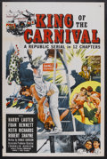 "King of the Carnival (Republic, 1955). One Sheet (27"" X 41""). Serial. Starring Fran Bennett, Harry Lauter, Kei..."