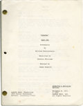 "Movie/TV Memorabilia:Memorabilia, ""Sinatra: Parts 1 and 2"" Miniseries Screenplay. A 262-pagedirector's revision draft of the screenplay for the 1992 TVminis..."