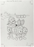 Original Comic Art:Covers, Donald Duck #181 Cover Original Art (Gold Key, 1977). ...