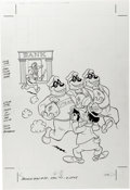 Original Comic Art:Covers, Beagle Boys #35 Cover Original Art (Gold Key, 1977). ...