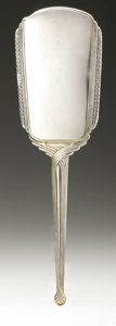Other:American, AN AMERICAN SILVER HAND MIRROR AND BRUSH. Saart Bros., Attleboro,MA, Early Twentieth Century. Hallmark to the top of the ...