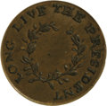 """Political:Inaugural (1789-present), George Washington: A Diminutive Shank Button Issued Before His 1789 Inauguration. Listed by Albert as WI 17-B. The slogan """"L..."""