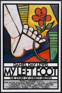 "My Left Foot (Miramax, 1989). One Sheet (27"" X 41""). Drama. Starring Daniel Day-Lewis, Ray McAnally, Brenda Fr..."