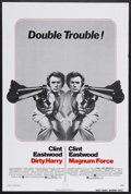 """Movie Posters:Crime, Dirty Harry/Magnum Force Combo (Warner Brothers, 1975). One Sheet(27"""" X 41""""). Crime Thriller. Starring Clint Eastwood, Harr..."""